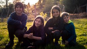 Les enfants du potager