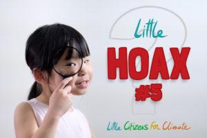 Petite fille avec loupe visuel hoax 5