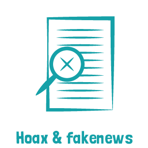Picto bleu hoax et fakenews