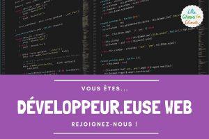Recrutement de développeur.euse web